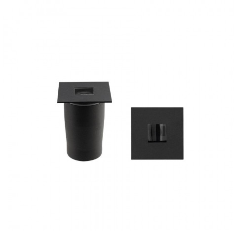 Embutido de Solo/Chão LED Line Quadrado IP67 3000K Quente 6W Bivolt 7,1x7,1cm Alumínio Preto | Stella STH20725/30
