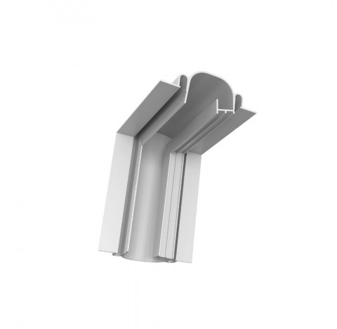Perfil de Embutir Line Up Linear Junção Ângulo Fechado 13,5x8,5cm Alumínio Branco - Newline PELS001