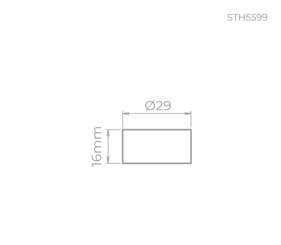dimensão soquete GU10