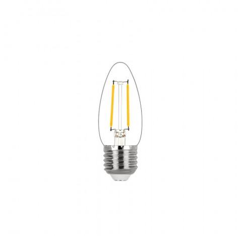 Lâmpada LED Vela Lisa E27 Filamento 320º 2700K Quente 2,5W Bivolt | Stella STH20300/27