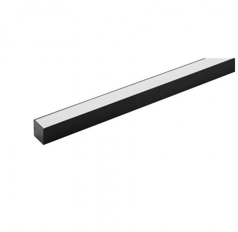 Perfil de Sobrepor LED Archi Linear 1 Metro Alto IRC>93 2700K Quente 28W 24V Alumínio Preto | Stella STH20971PTO/27