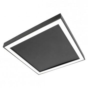 Plafon de Sobrepor LED Fit Edge Quadrado 3000K Quente 33,6W Bivolt 42x42cm Metal e Acrílico   Newline PL0123LED3