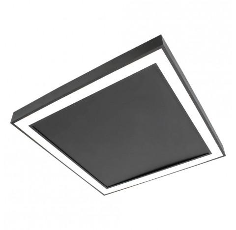 Plafon de Sobrepor LED Fit Edge Quadrado 3000K Quente 33,6W Bivolt 42x42cm Metal e Acrílico | Newline PL0123LED3