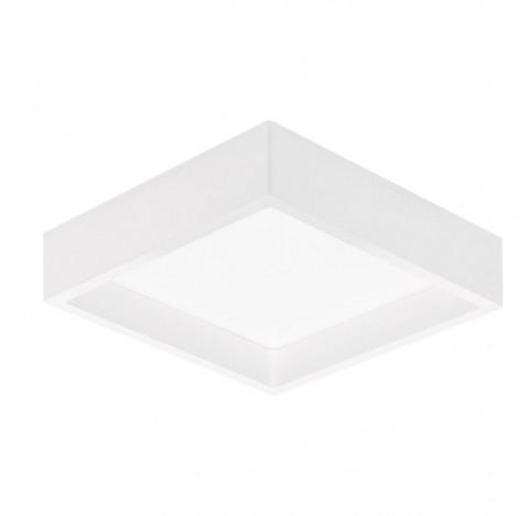 Plafon de Sobrepor LED Deep Recuado Quadrado 4000K Neutro 18W Bivolt 19x19cm Policarbonato Branco | Stella STH20903BR/40