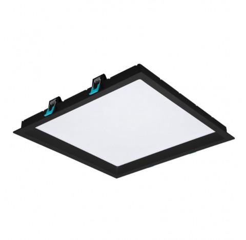 Painel/Luminária de Embutir LED Deep Recuado Quadrado 3000K Quente 30W Bivolt 35x35cm Policarbonato Preto | Stella STH8905PTO/30