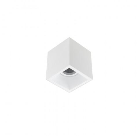 Spot/Plafon de Sobrepor Square Out Recuado Quadrado Facho Direcionável 1 AR70 12x12cm Alumínio Branco   Stella STH20930BR