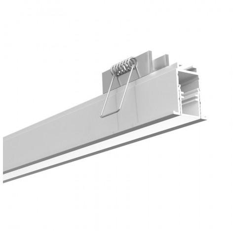Perfil de Embutir Fit 15 Linear 100x2,5cm Alumínio e Acrílico - Newline PA15100
