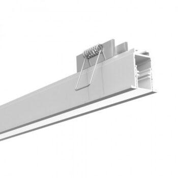 Perfil de Embutir Fit 15 Linear 50x2,5cm Alumínio e Acrílico - Newline PA15050