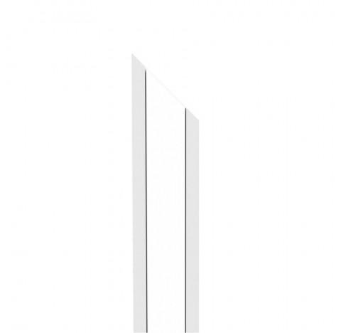 Perfil de Embutir Fit 15 Linear 45º Direita 100x2,5cm Alumínio e Acrílico - Newline PA15100D