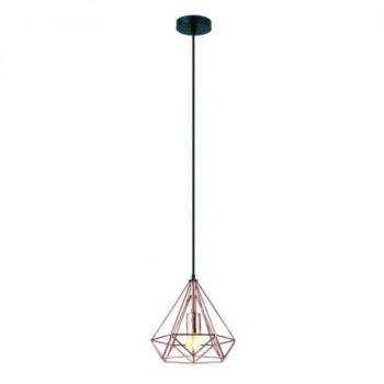 Pendente Mystic Diamante Ø25cm Metal Cobre - Casual Light/Quality PD1112-CO