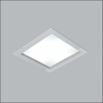 Luminária de Embutir Magnum Quadrado 25x25cm Metal e Acrílico - Usina 3600/25