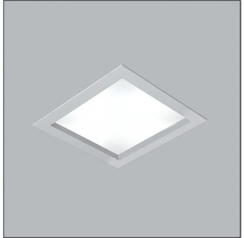 Luminária de Embutir Magnum Quadrado 38x38cm Metal e Acrílico - Usina 3600/38