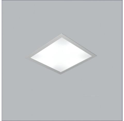 Luminária de Embutir Ruler Quadrado 25x25cm Metal e Acrílico - Usina 3700/25