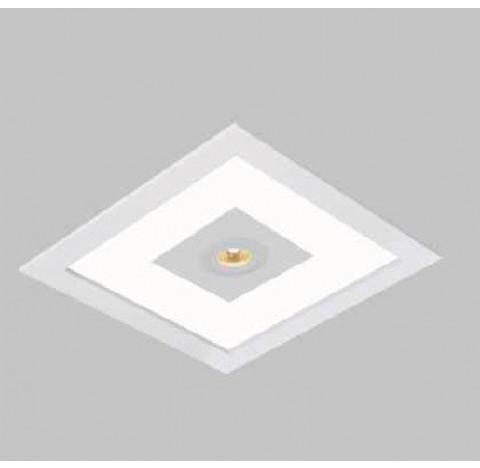 Luminária de Embutir Ruler Mix Quadrado 2 Bulbo 1 AR70 GU10 32x32cm Metal e Acrílico - Usina 3703/32