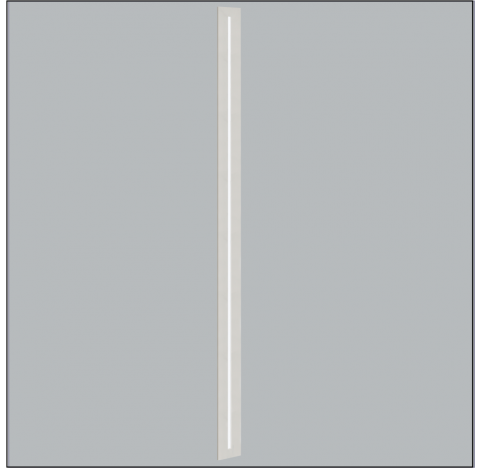 Luminária de Embutir Ruler Retangular 1 Tubular T5 115cm 122,5x6cm Metal e Acrílico - Usina 3706/125F