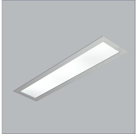 Luminária de Embutir Ruler Retangular 4 Tubular T8 60cm 130x15cm Metal e Acrílico - Usina 3715/130F