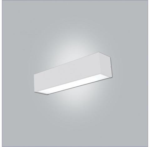 Arandela Tropical Retangular 2 Tubular T8 120cm 128x9,5cm Metal e Acrílico - Usina 4009/125F