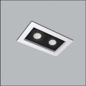 Spot de Embutir Premium Retangular Duplo/Finestra PAR20 32x17cm Metal - Usina 4320/32