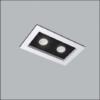 Spot de Embutir Premium Retangular Duplo/Finestra AR111 38x21cm Metal - Usina 4323/35