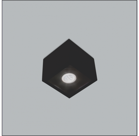 Spot de Sobrepor Premium Quadrado AR111 12x18x18cm Metal - Usina 4504/18