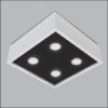 Spot de Sobrepor Premium Quadrado Quádruplo PAR20 12x25x25cm Metal - Usina 4501/25