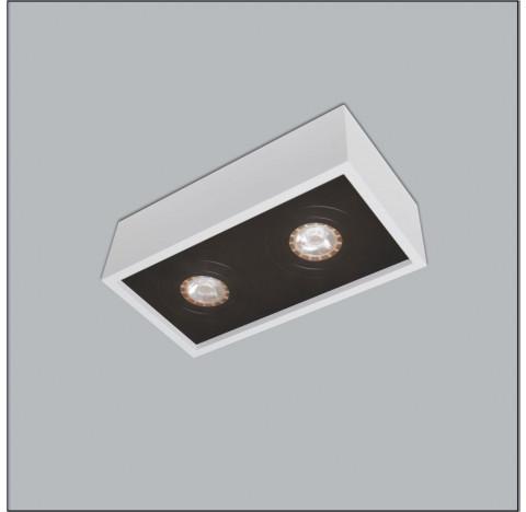 Spot de Sobrepor Premium Retangular Duplo/Finestra AR111 12x35x18cm Metal - Usina 4517/35