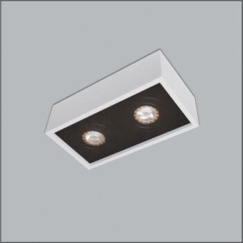 Spot de Sobrepor Premium Retangular Duplo/Finestra PAR30 15x35x18cm Metal - Usina 4516/35