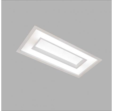Luminária de Embutir Cherry Retangular 65x32,5cm Metal e Acrílico - Usina 4543/65