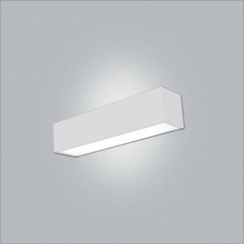 Arandela Tropical Retangular 1 Tubular T8 60cm 8,5x7,5cm Metal e Acrílico - Usina 4708/65F
