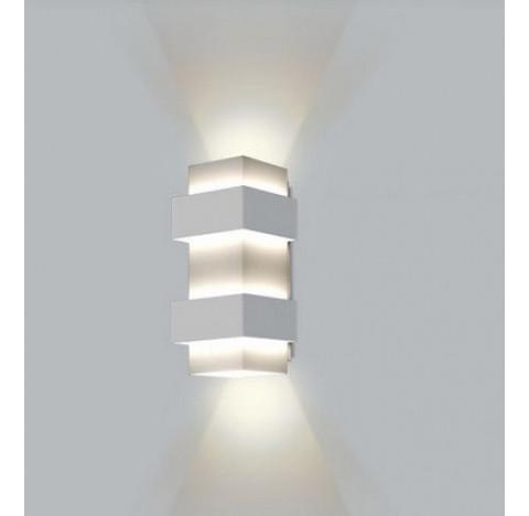 Arandela Smart Retangular Facho Duplo Aberto Interno 40x12x12cm Metal - Usina 5220/40