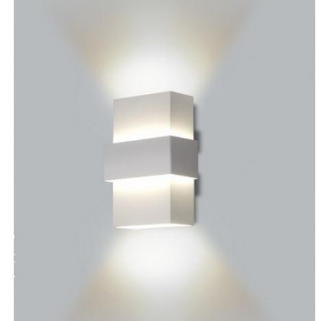 Arandela Smart Retangular Facho Duplo Aberto Interno 18x12x7cm Metal - Usina 5221/18