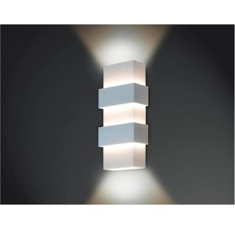 Arandela Smart Retangular Facho Duplo Aberto Interno 40x12x7cm Metal - Usina 5221/40