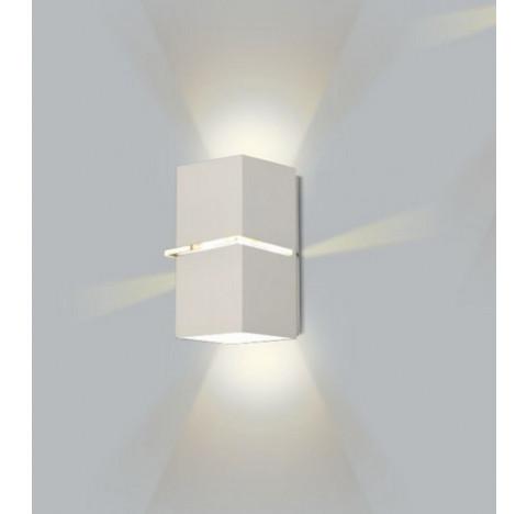 Arandela Kiara Retangular Facho Duplo Aberto Externo 18x11x10,5cm Metal - Usina 5225/18