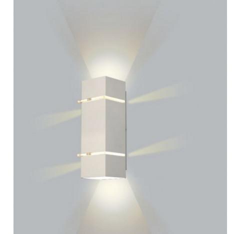 Arandela Kiara Retangular Facho Duplo Aberto Externo 40x11x10,5cm Metal - Usina 5225/40