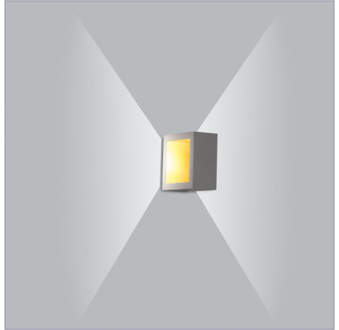 Arandela LED Puch Quadrado Interno 110V 10x5,1x10cm Metal - Usina 5744/10-110