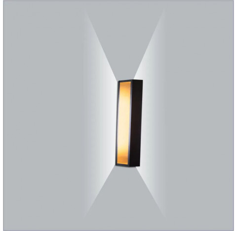 Arandela LED Puch Retangular Interno 110V 25x5,1x10cm Metal - Usina 5745/25-110
