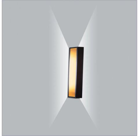 Arandela LED Puch Retangular Interno 220V 25x5,1x10cm Metal - Usina 5745/25-220