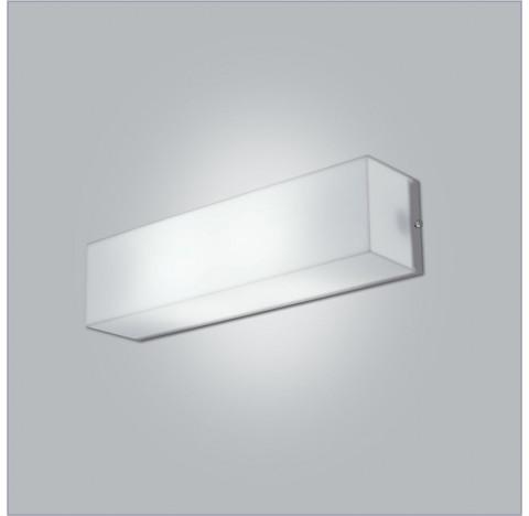 Arandela Polar Retangular Interno 10x45x10cm Metal e Acrílico - Usina 10110/45