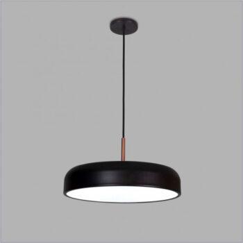 Pendente Titan Redondo c/ Haste Ø30cm Metal e Acrílico - Usina 16227/30