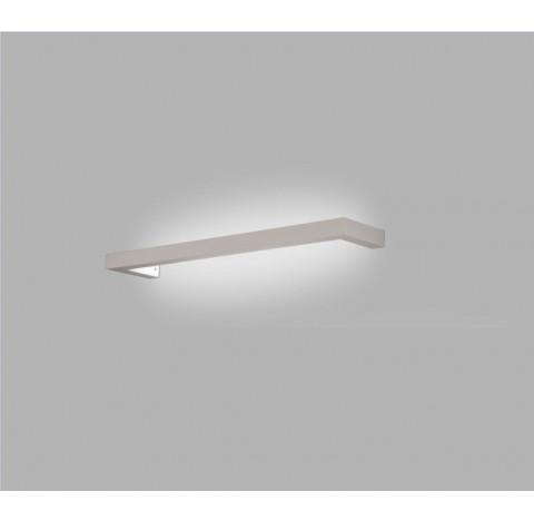 "Arandela Loft Retangular Perfil ""U"" Interno 1 Tubular T8 60cm 70x4,5cm Metal - Usina 16350/70"