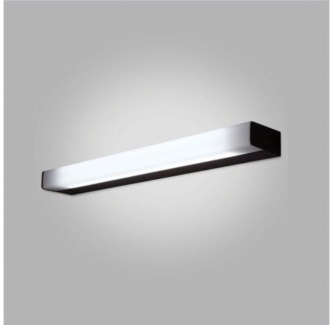 Arandela Toro Retangular Interno 1 Tubular T8 60cm 70x10cm Metal e Acrílico - Usina 16400/70