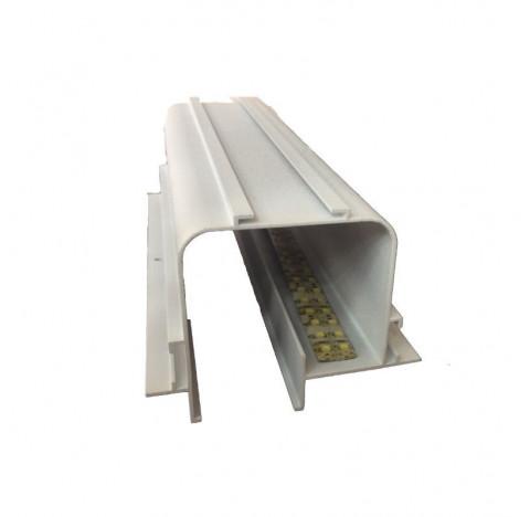 Perfil de Embutir Tecno Linear 50x9,3cm Metal e Acrílico - Usina 30000/50