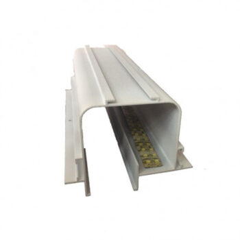 Perfil de Embutir Tecno Linear 125x9,3cm Metal e Acrílico - Usina 30000/125