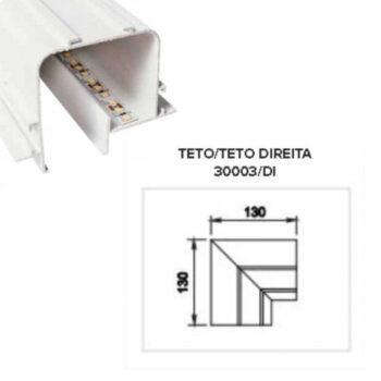 Perfil de Embutir Tecno Junção Quina 13x13cm Metal e Acrílico - Usina 30003/DI