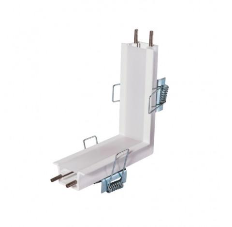 Perfil de Embutir Garbo Junção Teto/Parede 10x10cm Metal e Acrílico - Usina 30032/TP