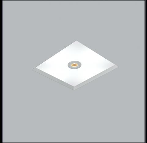 Luminária de Embutir No Frame Mix Quadrado 4 Bulbo 1 PAR20 35x35cm Metal e Acrílico - Usina 30081/34