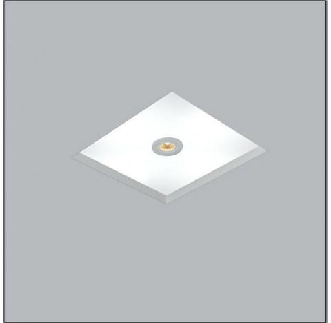 Luminária de Embutir No Frame Mix Quadrado 2 Bulbo 1 AR70 22x22cm Metal e Acrílico - Usina 30082/22