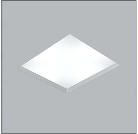 Luminária de Embutir No Frame Quadrado 22x22cm Metal e Acrílico - Usina 30100/20