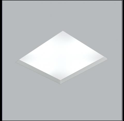 Luminária de Embutir No Frame Quadrado 35x35cm Metal e Acrílico - Usina 30100/40