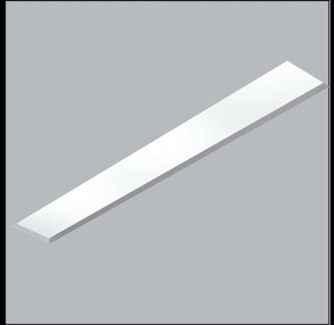 Luminária de Embutir No Frame Retangular 2 Tubular T8 120cm 124x11cm Metal e Acrílico - Usina 30111/128F